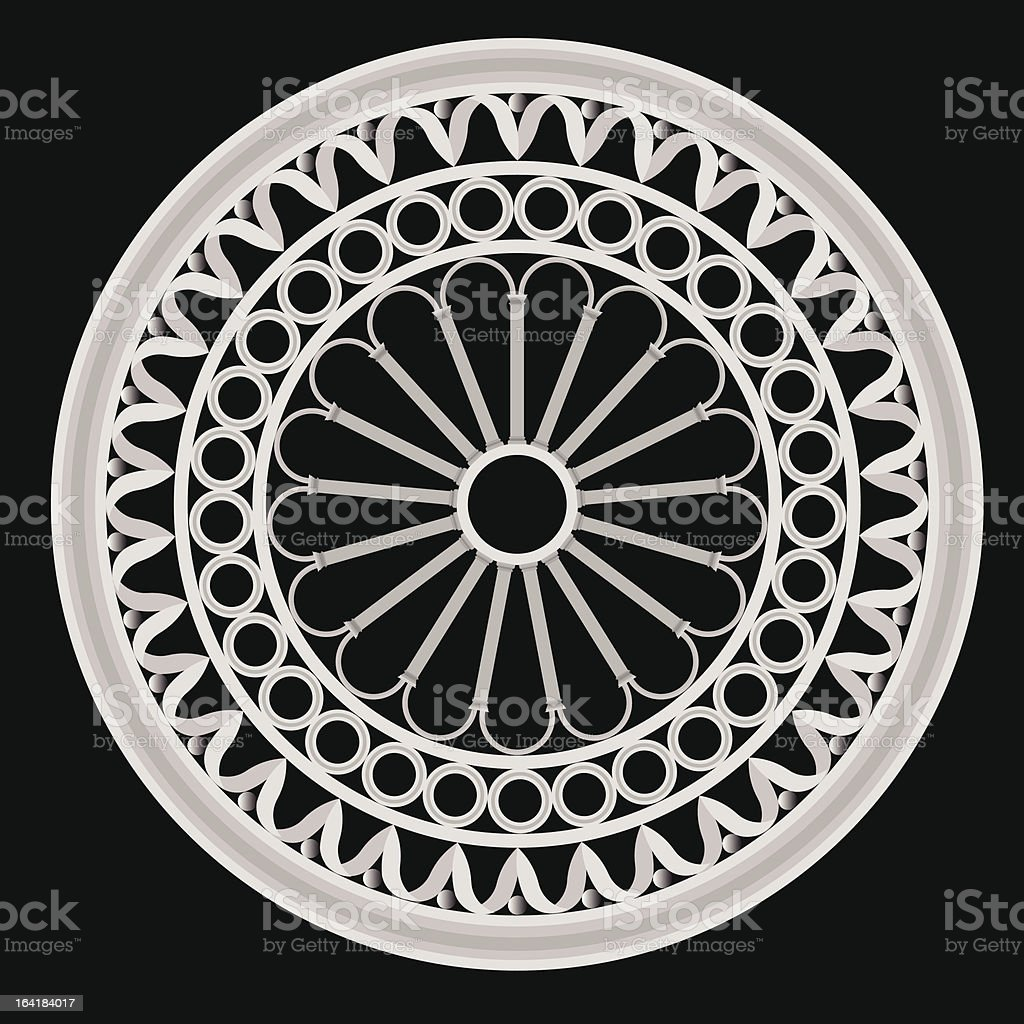the rose window royalty-free stock vector art