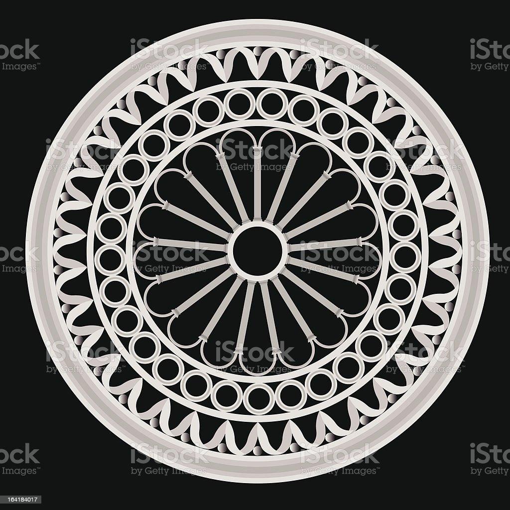 the rose window vector art illustration