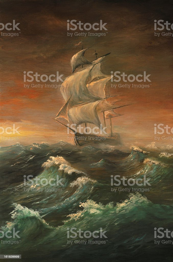 The rough sea royalty-free stock vector art