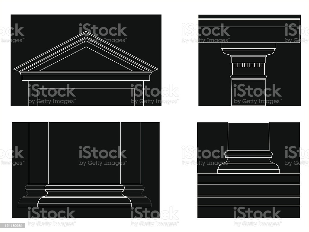 the similar Doric order vector art illustration