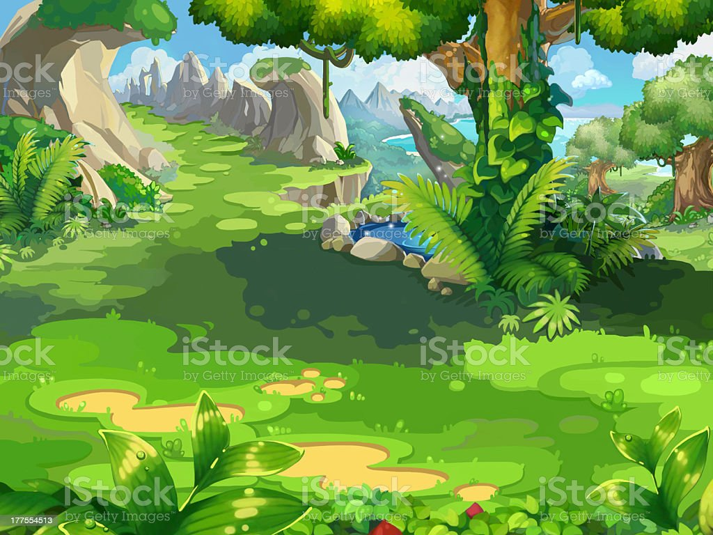The small jungle royalty-free stock vector art