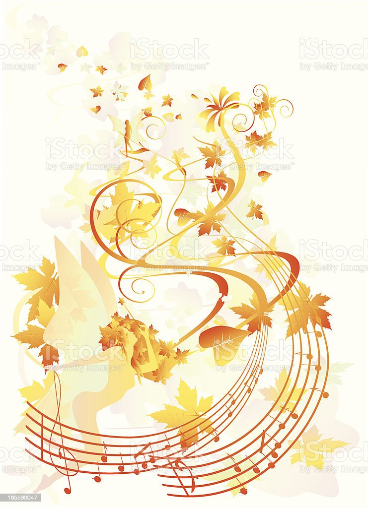 the song of autumn royalty-free stock vector art