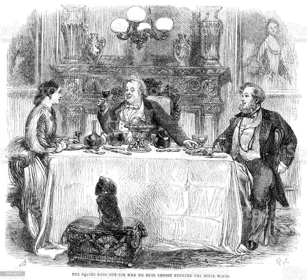 The Squire of Fine Wine vector art illustration