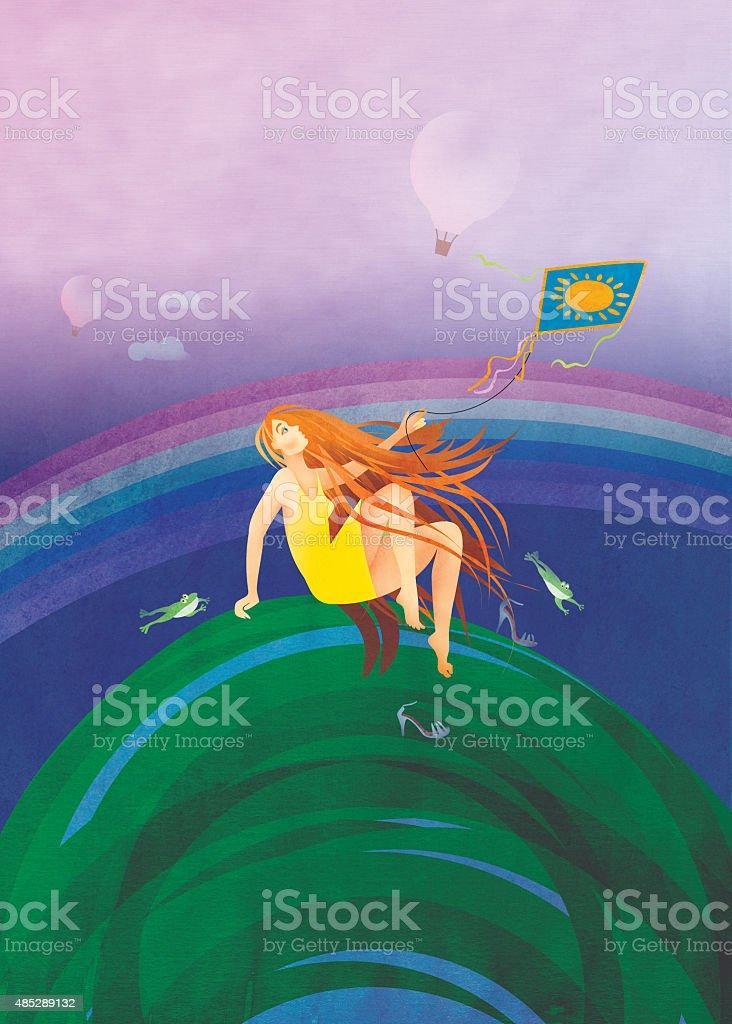 The summer vector art illustration