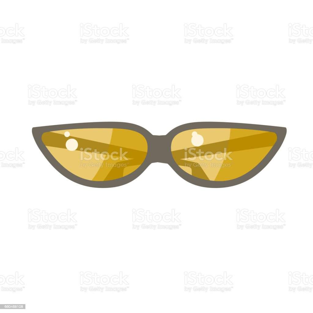 The sunglasses with yellow lens vector art illustration