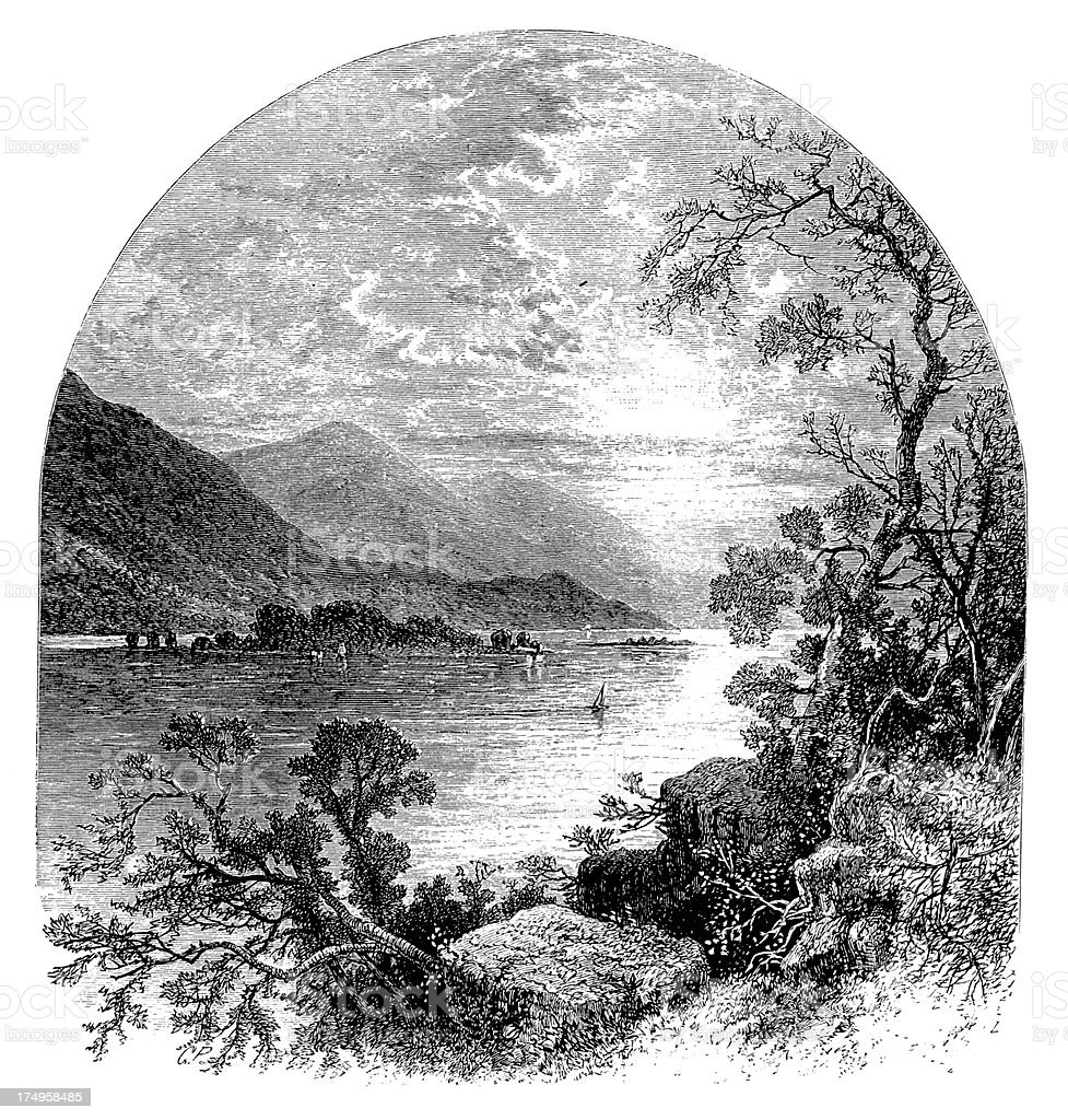 The Susquehanna River, USA royalty-free stock vector art