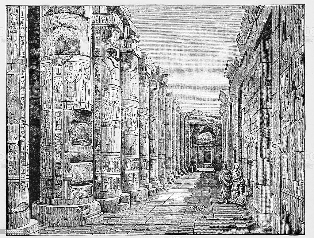 The Temple of Abydos stock photo