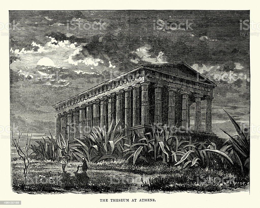 The Temple of Hephaestus or Hephaisteion, Athens vector art illustration