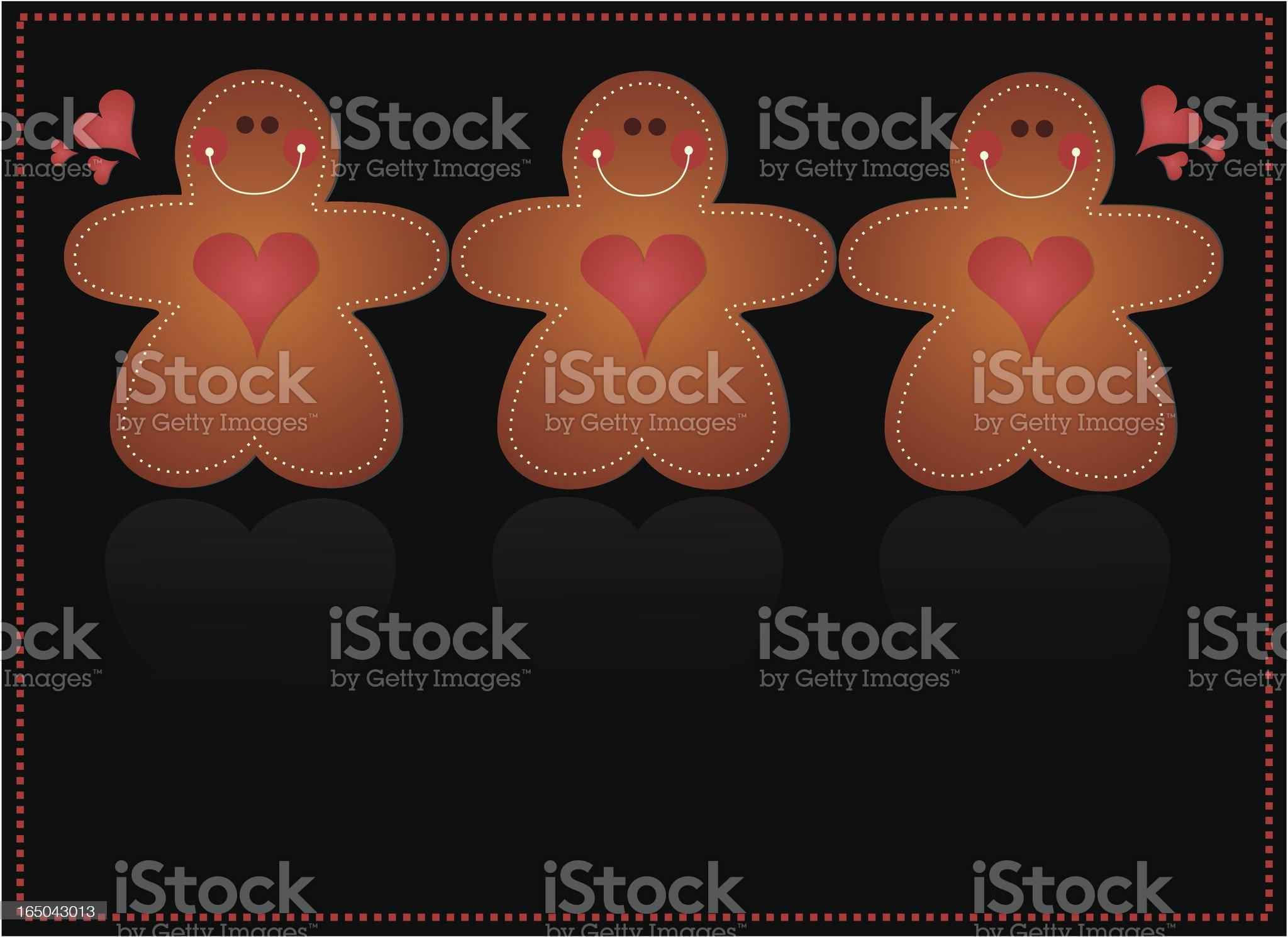 The Three Little Gingerbread Men royalty-free stock vector art