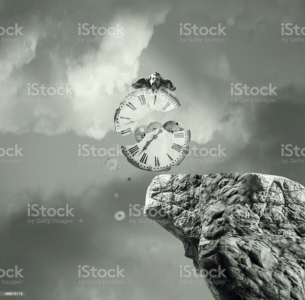 The time will never stop vector art illustration