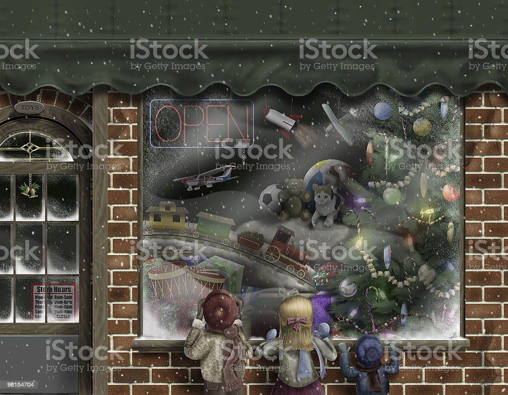 The Toy Store vector art illustration