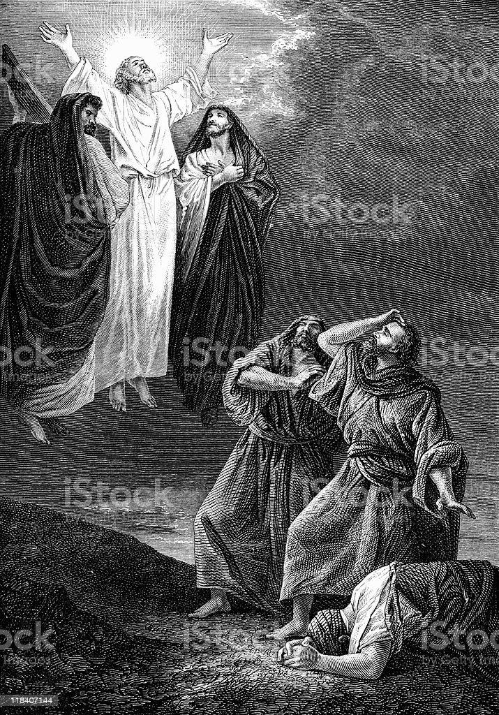 The Transfiguration of Jesus Christ vector art illustration