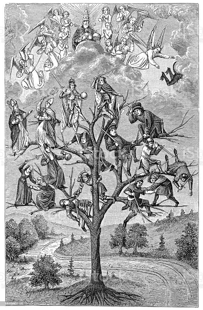 The Tree of Battles royalty-free stock vector art
