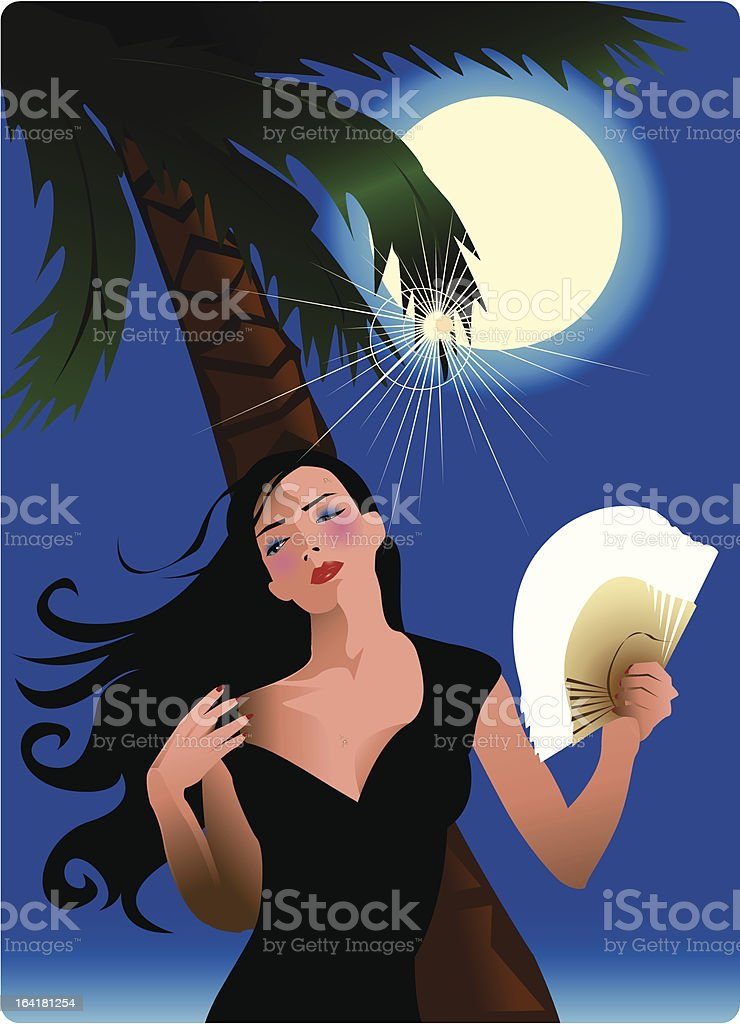 the weather is too hot !! royalty-free stock vector art