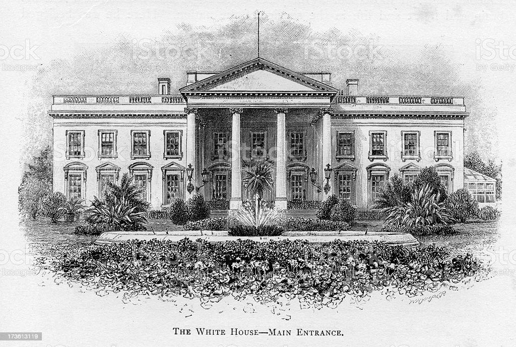 The White House vector art illustration