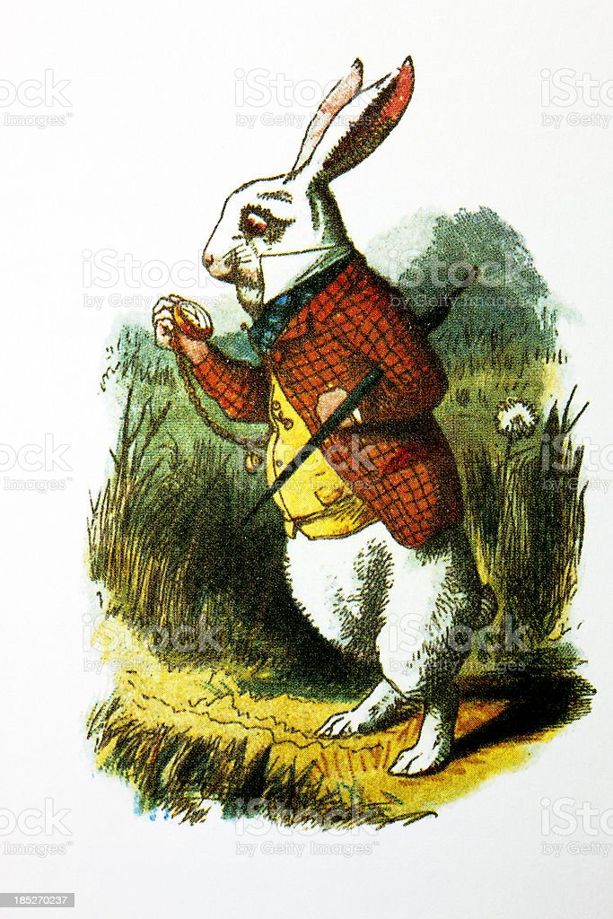The White Rabbit royalty-free stock vector art