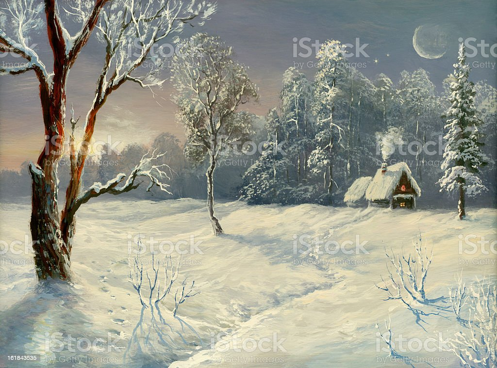 The winter sun royalty-free stock vector art
