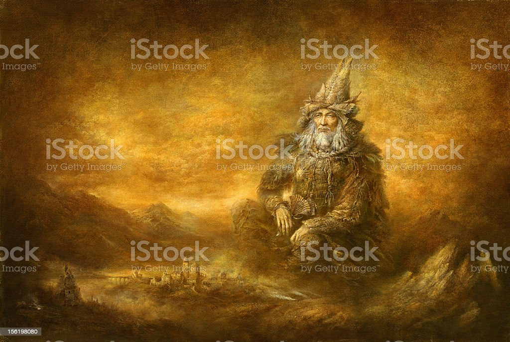 The wizard royalty-free stock vector art