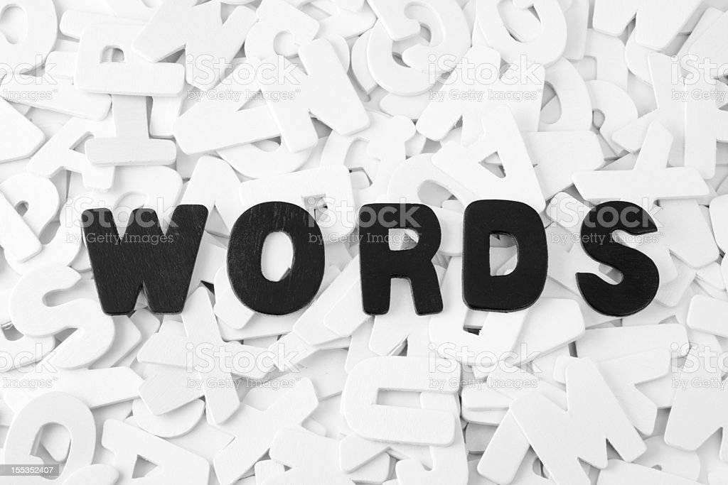 The word 'Words' in black lettering royalty-free stock vector art