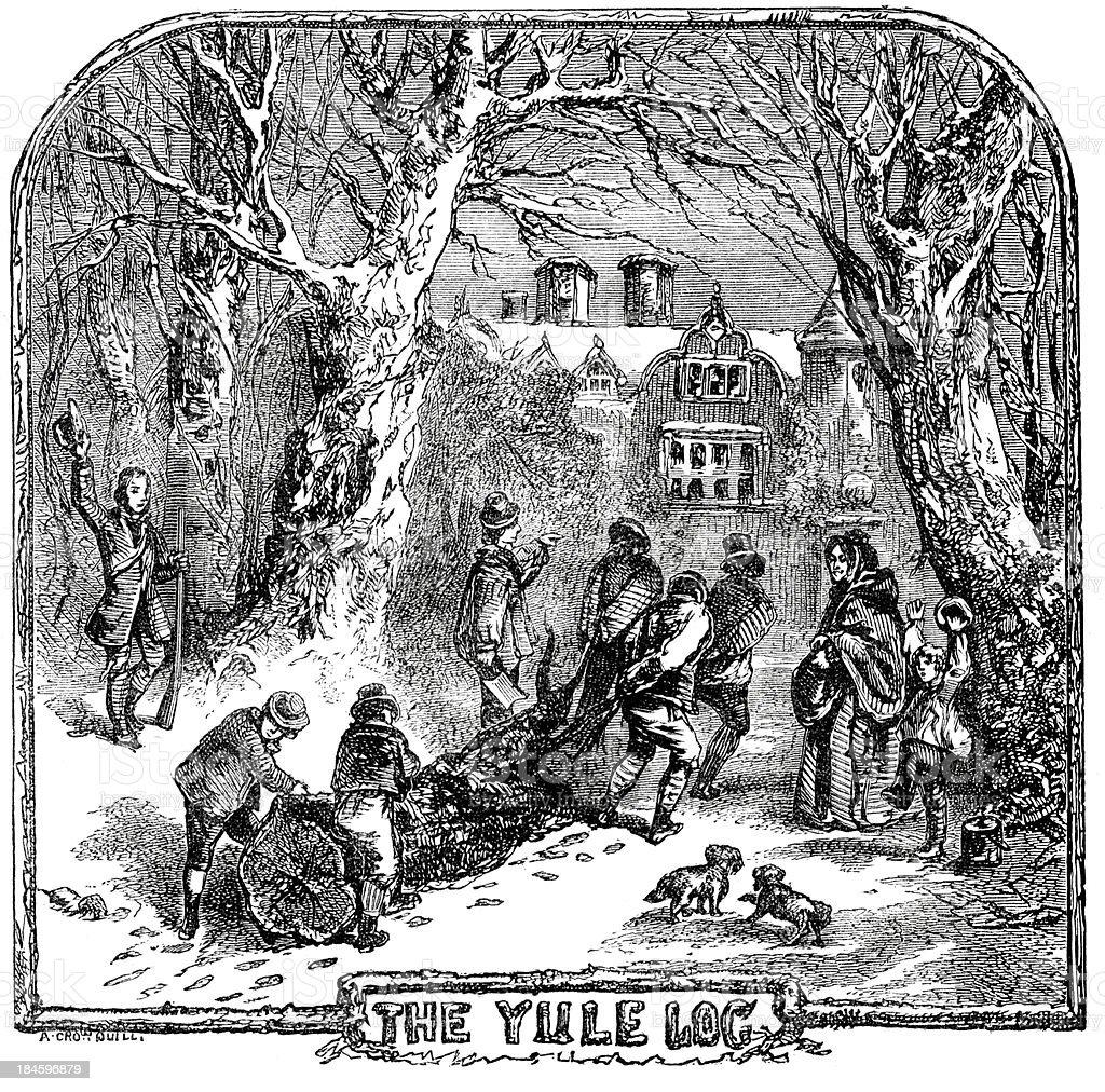 The Yule Log vector art illustration