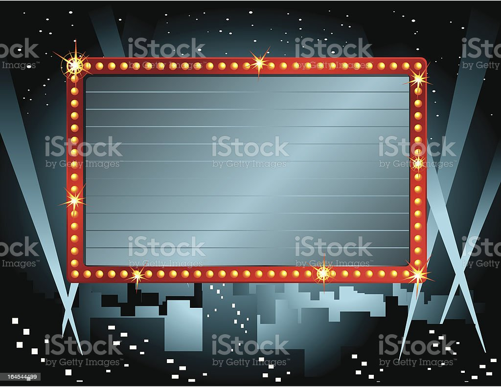 Theatre Sign royalty-free stock vector art