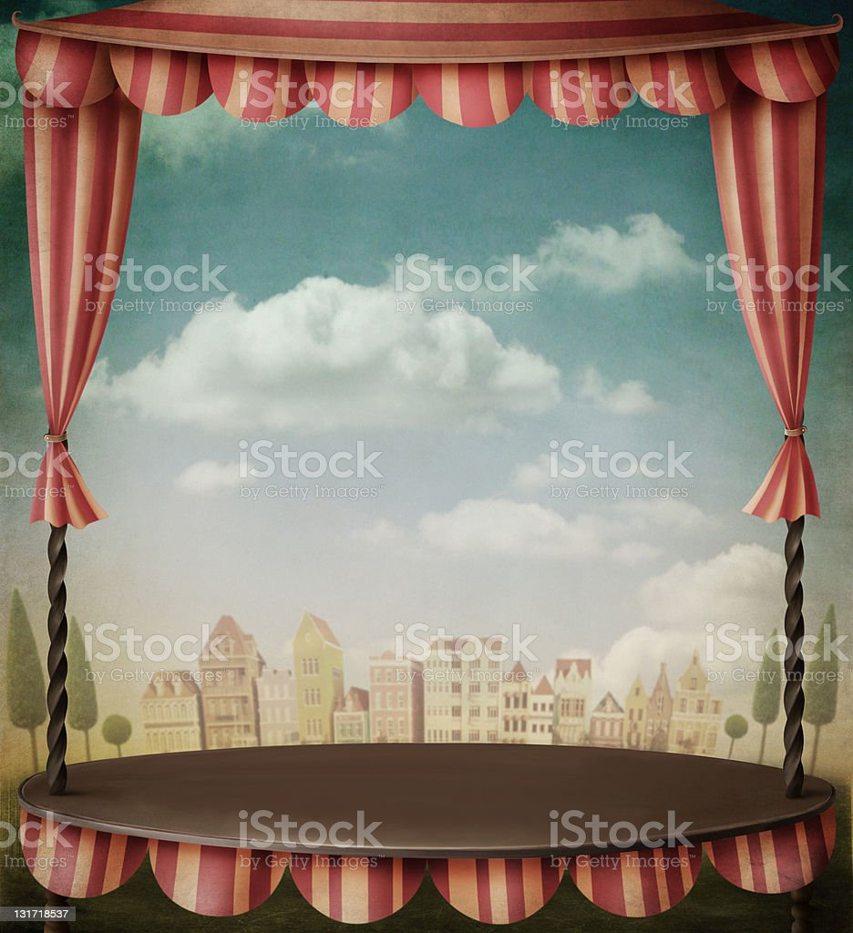 Theatrical Stage vector art illustration