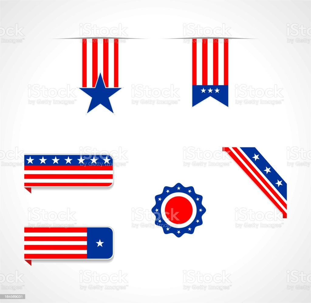 USA themed design elements royalty-free stock vector art