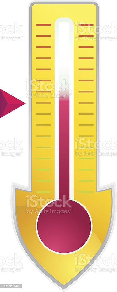 Thermometer Shield vector art illustration