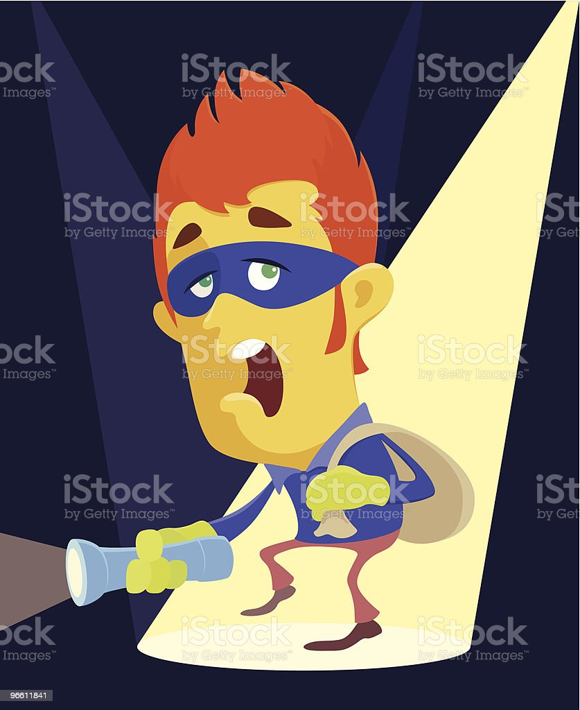 thief royalty-free stock vector art