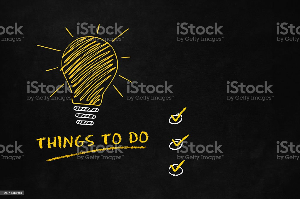 Things to do concept vector art illustration