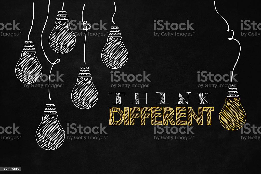 Think different concept vector art illustration