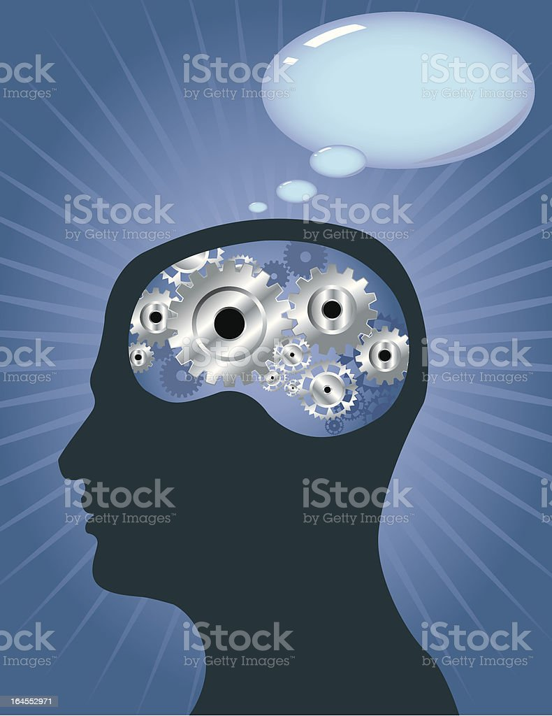 Thinker royalty-free stock vector art