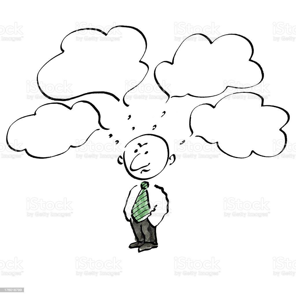 Thinking businessman. royalty-free stock vector art