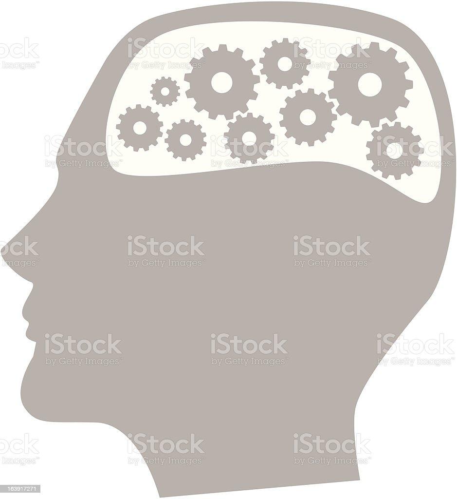 Thinking man royalty-free stock vector art