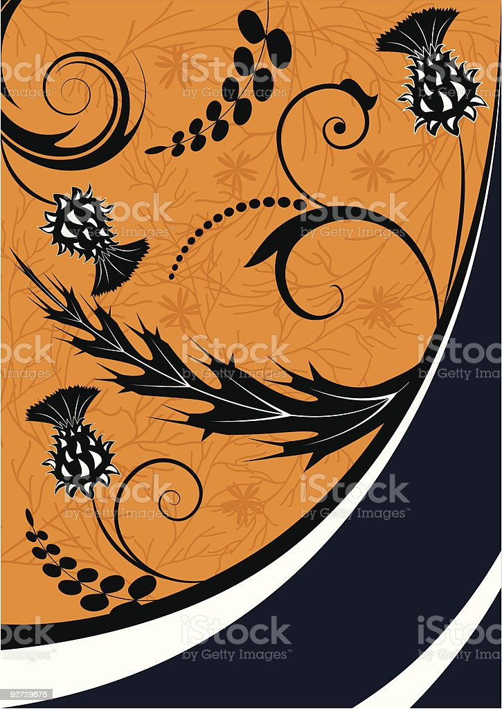thistle vector art illustration