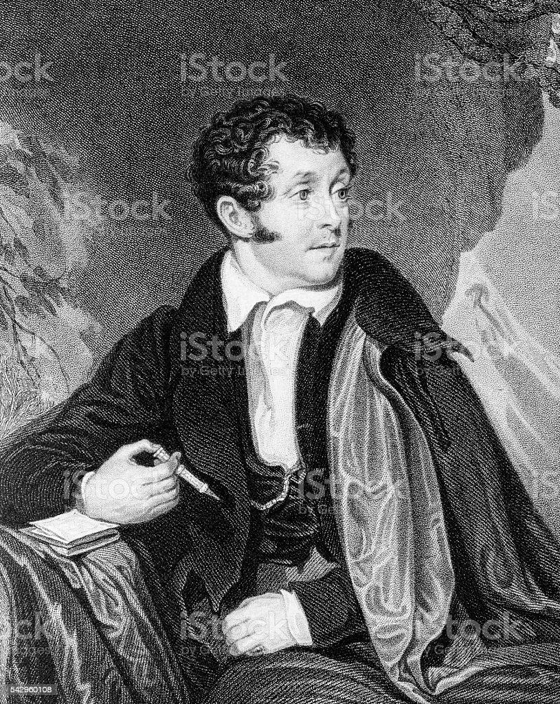 Thomas Campbell, a Scottish poet vector art illustration