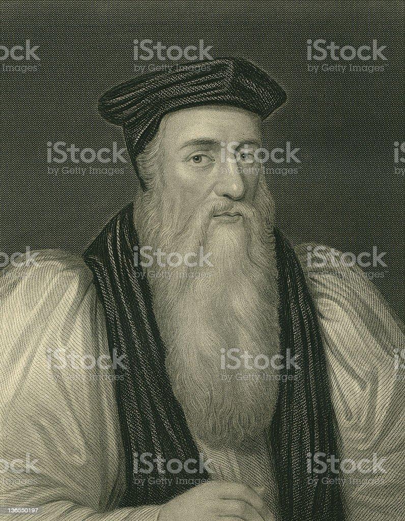 Thomas Cranmer,Theologian royalty-free stock vector art