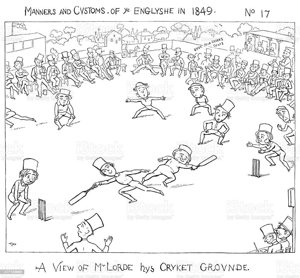 Thomas Lord's Cricket Ground, St John's Wood royalty-free stock vector art