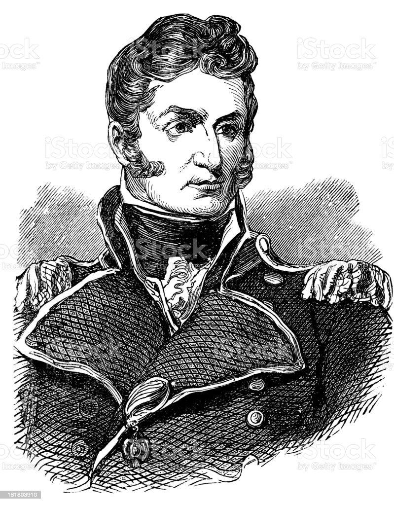 Thomas MacDonough, U.S. Navy (War of 1812) royalty-free stock vector art