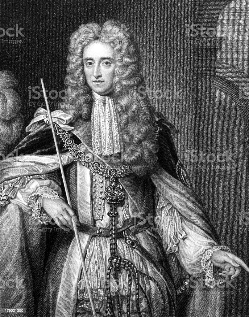Thomas Osborne, 1st Duke of Leeds vector art illustration