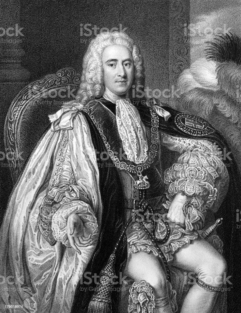 Thomas Pelham-Holles, 1st Duke of Newcastle royalty-free stock vector art