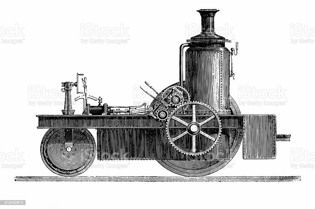 Thomson Road Steamer vector art illustration