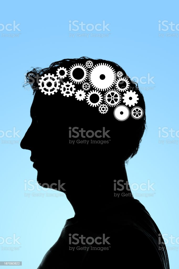Thought process royalty-free stock vector art