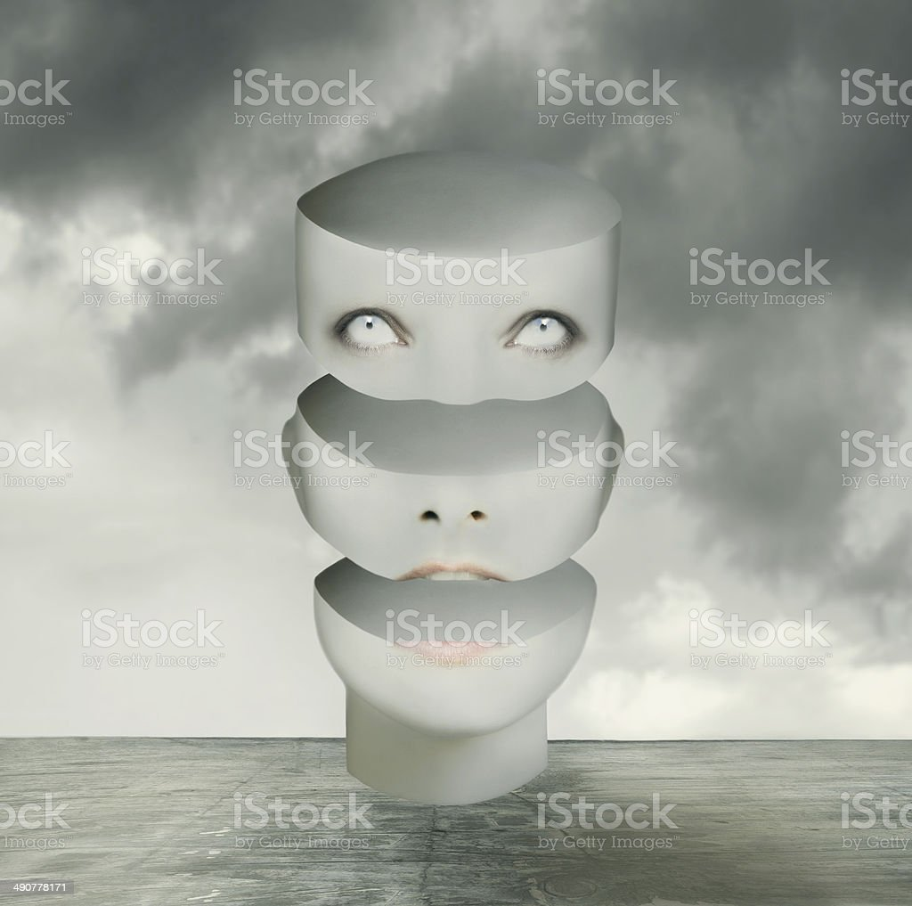 Thoughts are fluctuating vector art illustration