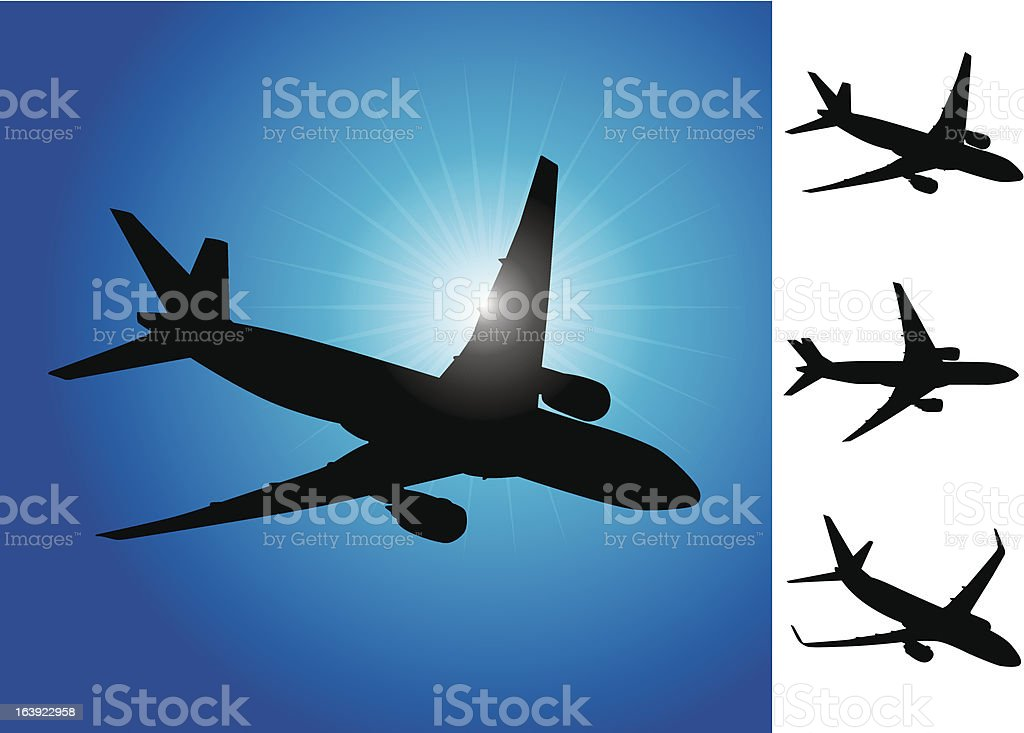 Three airplanes vector illustration royalty-free stock vector art