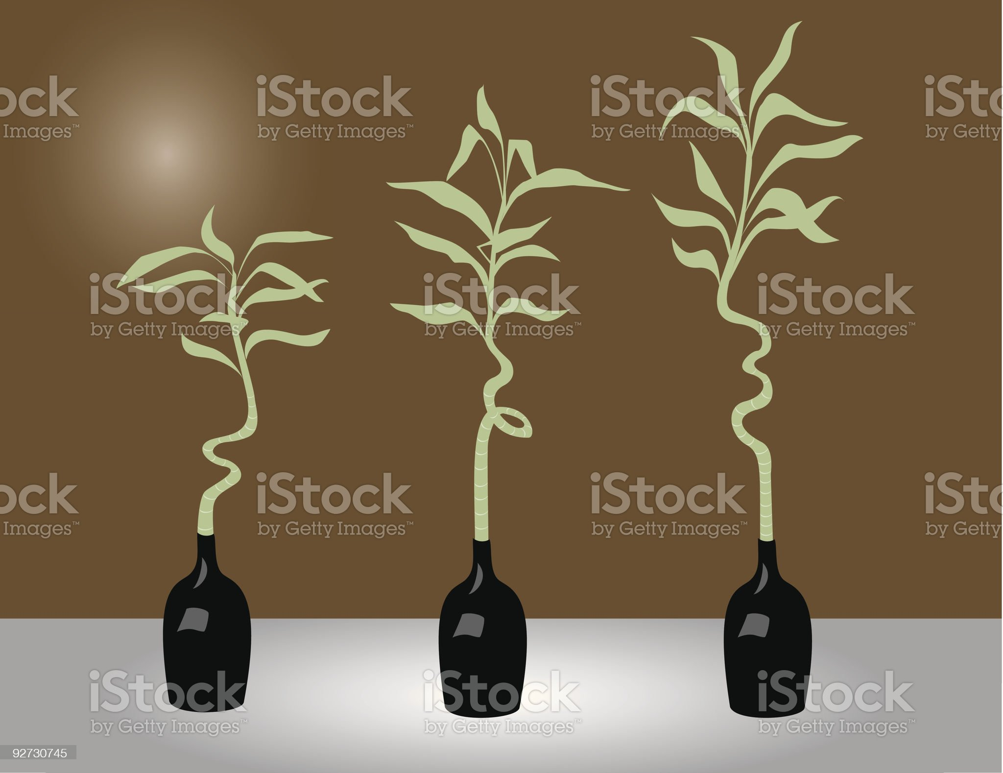 Three bamboos royalty-free stock vector art