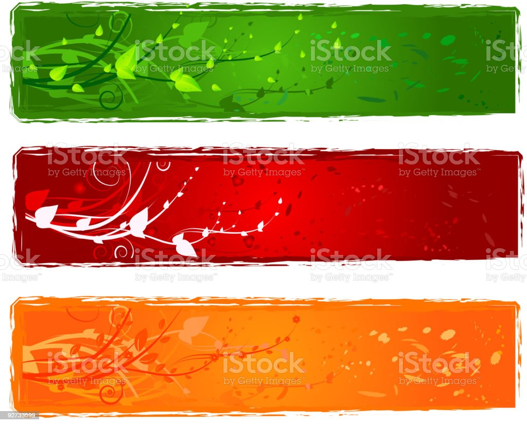 Three banner with swirl design royalty-free stock vector art