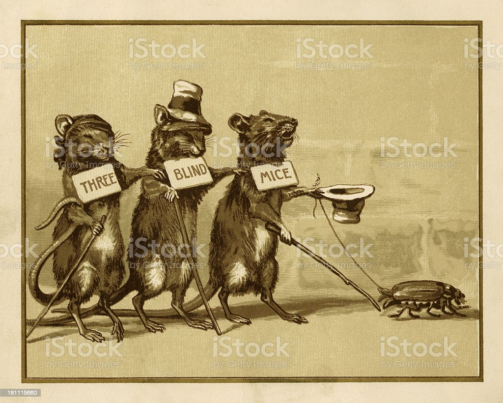 Three blind mice royalty-free stock vector art