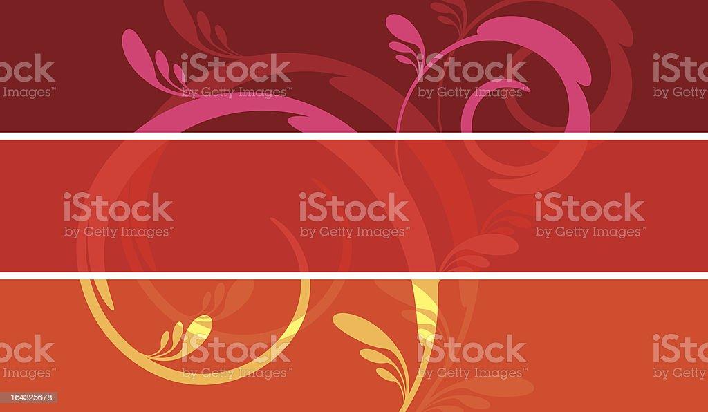 Trois bannières florales stock vecteur libres de droits libre de droits