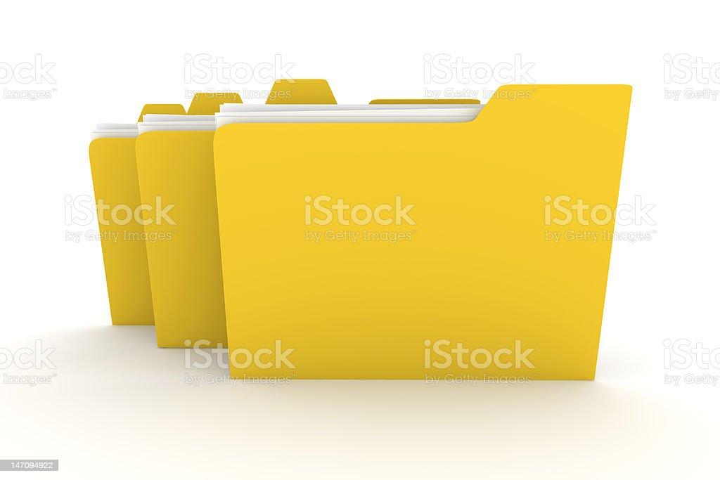 Three Folders vector art illustration